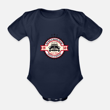 Rockabilly Hot Rod och Kustom Garage - Ekologisk kortärmad babybody