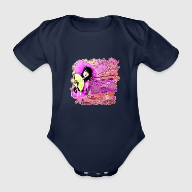 Boombox CROWN CSC 950L with Geisha Japan - Organic Short-sleeved Baby Bodysuit