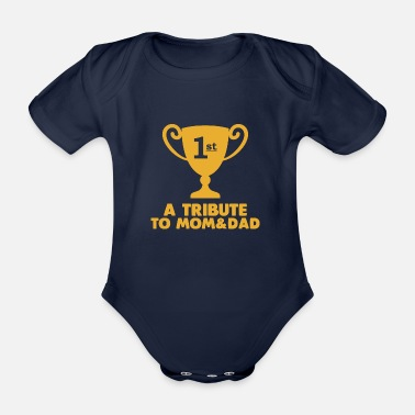 a tribute to mom and dad - Organic Short-Sleeved Baby Bodysuit