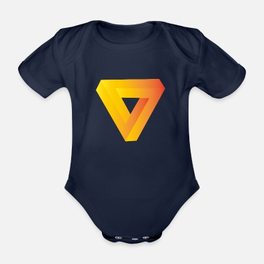 Curves Optical illusion pattern shapes geometry gift - Organic Short-Sleeved Baby Bodysuit