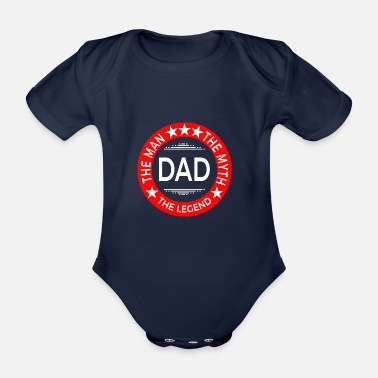 Fathers Day Father's Day Father's Day gift - Organic Short-sleeved Baby Bodysuit
