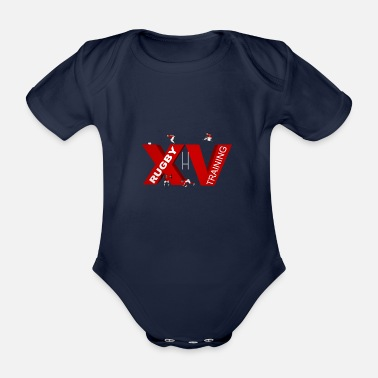Lyon Rugby Toulousain XV TRAINING - Organic Short-Sleeved Baby Bodysuit