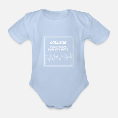 College college - Organic Short-Sleeved Baby Bodysuit