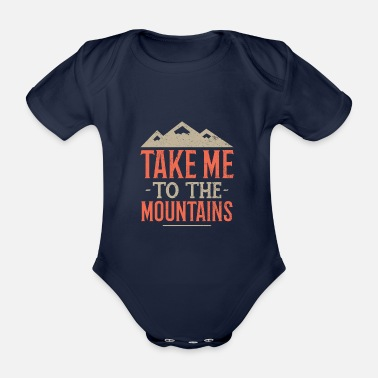 Climber Mountaineering gift mountaineer climbing summit - Organic Short-Sleeved Baby Bodysuit