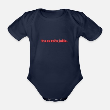 Book Tu es tres jolie You are pretty - Organic Short-Sleeved Baby Bodysuit