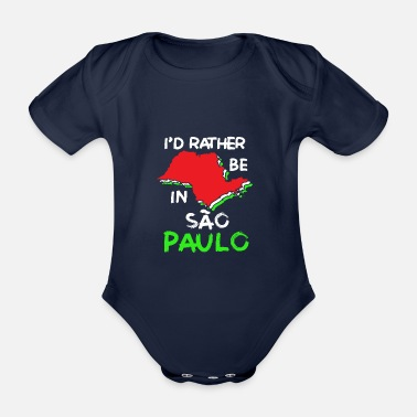 Womens World Sao Paulo - Organic Short-Sleeved Baby Bodysuit