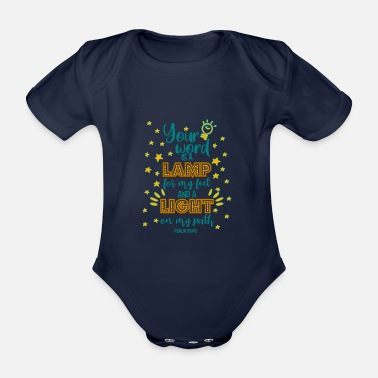 Christian Bible verse Bible Christian clothing - Organic Short-Sleeved Baby Bodysuit