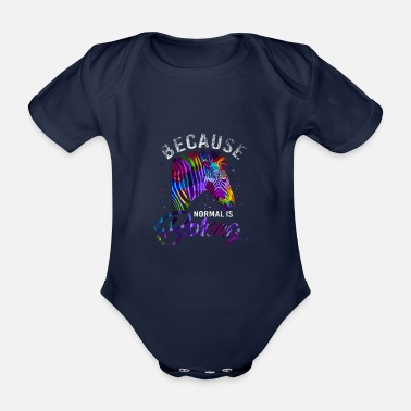 Pony zebra - Organic Short-Sleeved Baby Bodysuit