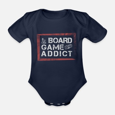 Game Board Games - Board Game addict - Organic Short-Sleeved Baby Bodysuit