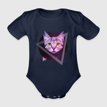 Space Katze - Baby Bio-Kurzarm-Body