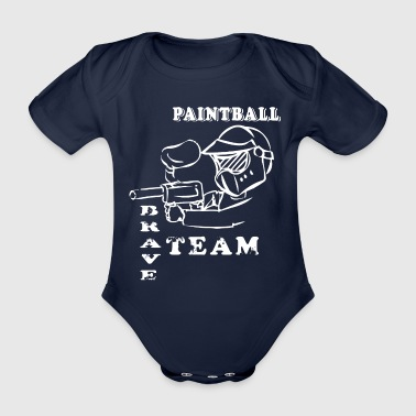 Paintball - Baby Bio-Kurzarm-Body