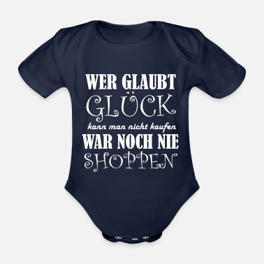 Shopping Idea Shopping Shopping Shopping - Organic Short-Sleeved Baby Bodysuit