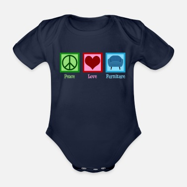 Mover Peace Love Furniture - Organic Short-Sleeved Baby Bodysuit