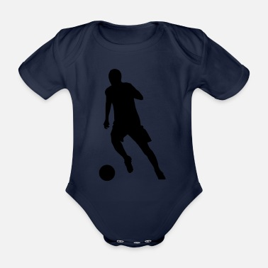 Soccer Soccer Football - Organic Short-Sleeved Baby Bodysuit