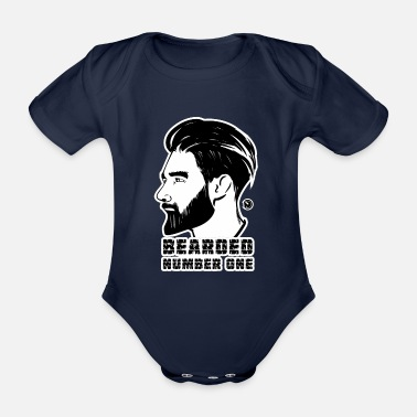 Tattoo BEARDED Number One - Baby Bio-Kurzarm-Body
