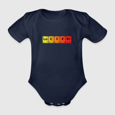 Lucifer chemistry science periodic table - Organic Short-sleeved Baby Bodysuit