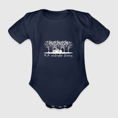 4x4 midnight driving - Organic Short-sleeved Baby Bodysuit