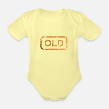 Old OLD - Organic Short-Sleeved Baby Bodysuit