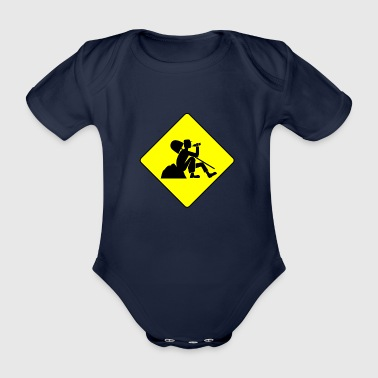 construction worker - Organic Short-sleeved Baby Bodysuit
