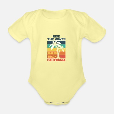 Los Angeles MALIBU BEACH - Organic Short-Sleeved Baby Bodysuit