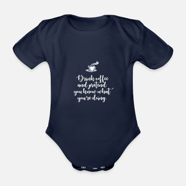 Humour Humour coffee - Organic Short-Sleeved Baby Bodysuit
