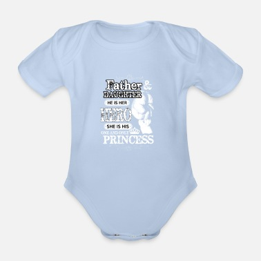 Father Father daughter family hero princess gift - Organic Short-Sleeved Baby Bodysuit