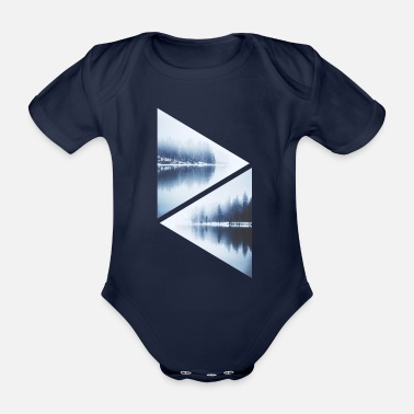 Isolated isolation - Organic Short-Sleeved Baby Bodysuit