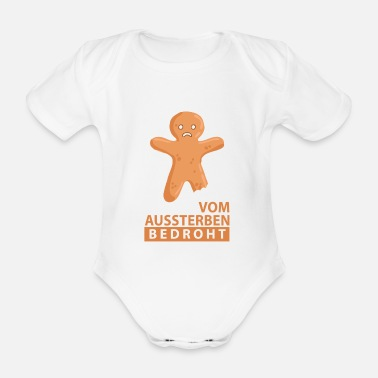 Threatened Threatened with extinction - Organic Short-Sleeved Baby Bodysuit