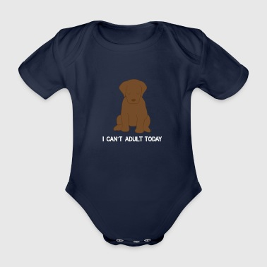 Golden Labrador Teenager Golden Retriever Lazy Gift - Organic Short-sleeved Baby Bodysuit