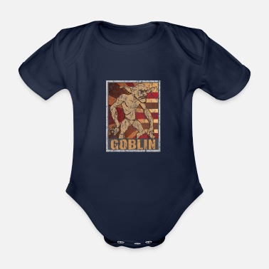 Legend Retro Goblin Poster Distressed Look - Organic Short-sleeved Baby Bodysuit