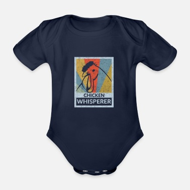 Magnet Chicken Whisperer Vintage Distressed - Organic Short-sleeved Baby Bodysuit