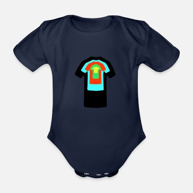 T-shirts T-Shirt on T-Shirt. - Organic Short-Sleeved Baby Bodysuit