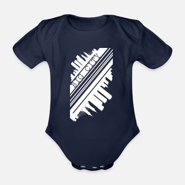 City city - Organic Short-Sleeved Baby Bodysuit