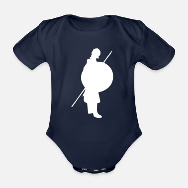 Shield Shield warrior, fighter - Organic Short-sleeved Baby Bodysuit