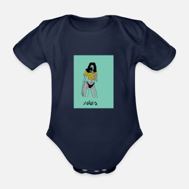 Retro Underwear Values - Organic Short-Sleeved Baby Bodysuit