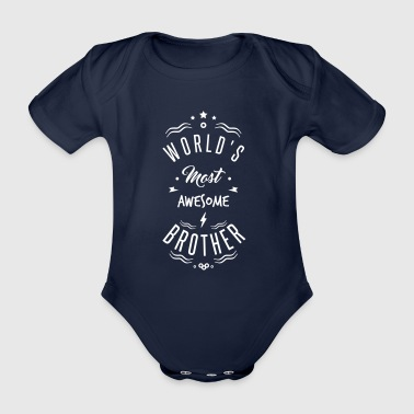 awesome brother - Organic Short-sleeved Baby Bodysuit
