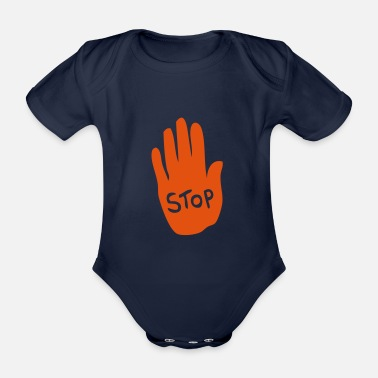 1 main stop 1 - Organic Short-Sleeved Baby Bodysuit