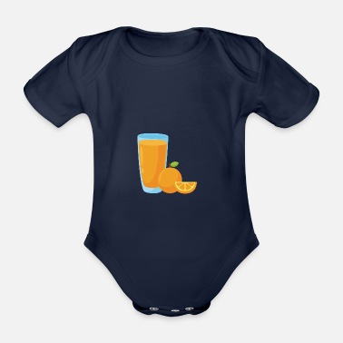 Orange Juice Orange Juice Orange Orange Juice - Organic Short-Sleeved Baby Bodysuit