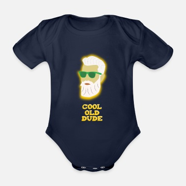 Dude COOL OLD DUDE - Organic Short-sleeved Baby Bodysuit