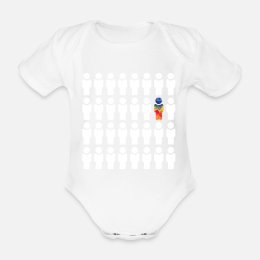 Different Be different / be different - Organic Short-Sleeved Baby Bodysuit