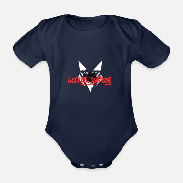 Outdoor Loups Outdoor police rouge - Body bébé bio manches courtes