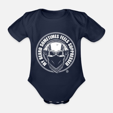 Suppression my beard sometimes feels suppressed - Organic Short-Sleeved Baby Bodysuit