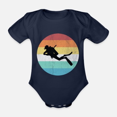 Diving Diving Diver Diver Vacation Sea Reef - Organic Short-sleeved Baby Bodysuit