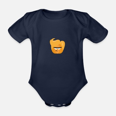 Angry Pumpkin Guy Funny Sgh8x - Organic Short-Sleeved Baby Bodysuit
