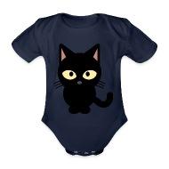 Chat Noir chat noir , Body bébé bio manches courtes