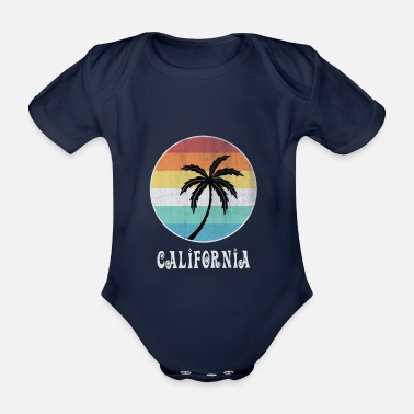 Los Angeles California - Organic Short-sleeved Baby Bodysuit