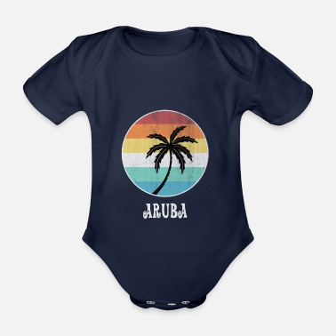 Cruise aruba - Organic Short-sleeved Baby Bodysuit