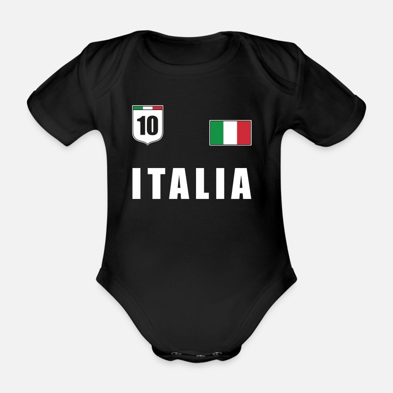 Italien T Shirt Italienische Flagge Trikot Fussball Baby Bio