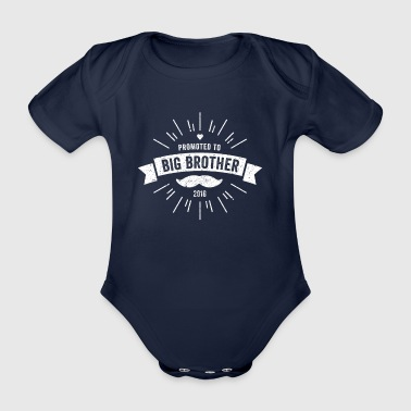 PROMOTED TO BIG BROTHER 2018 SHIRT Vintage Style - Baby Bio-Kurzarm-Body
