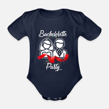 Hen Party Hen Party JGA Gift Party - Organic Short-sleeved Baby Bodysuit